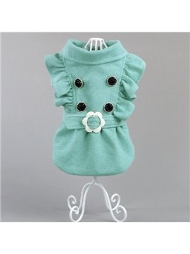Wonderful Pretty Green Leisure  Dog Clothing
