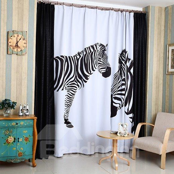 High Density Fabric Zebra Printed High Shading Degree Curtain