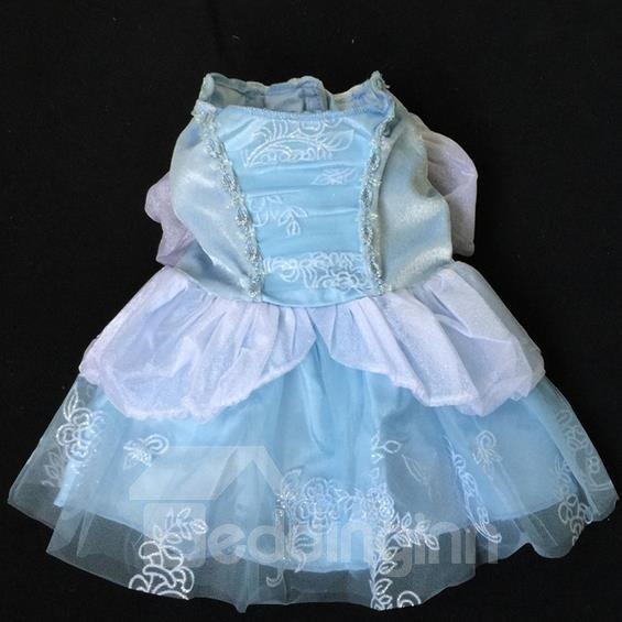 Fantastic Cinderella Princess Velvet Dress for Dog