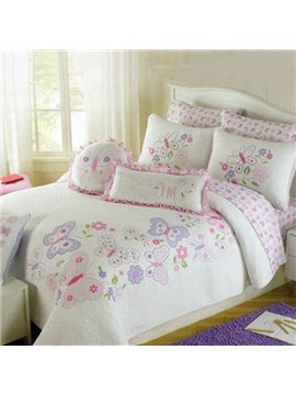 High Quality Embroided Cotton 4-Piece Bed in a Bag Set