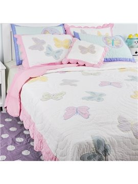 Cinderella Pattern Butterflies Printed Cotton Bed in a Bag Set