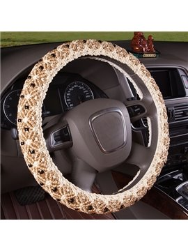 Handmade Exquisite Ice Silk Steering Wheel Cover