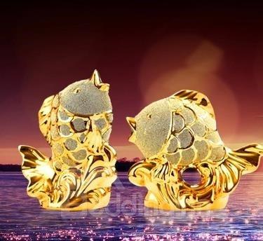 Fantastic Beautiful 1-Set Goldfish Desktop Decoration
