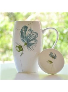 Top Classic Graceful Elegant Flower Coffee Mug