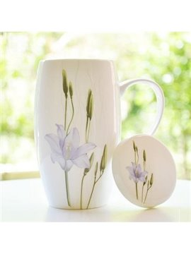 Elegant Pretty Purple Water Lily  Coffee Mug