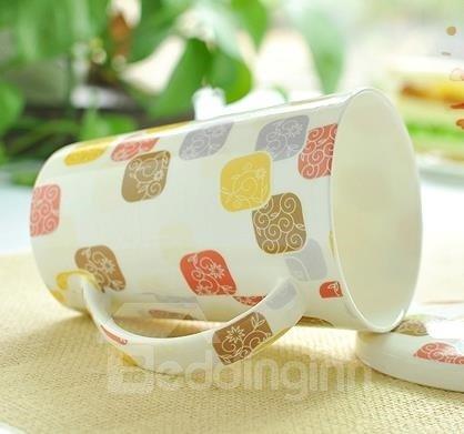 Elegant European Style Bone China Coffee Mug