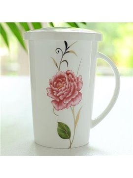 Amazing Elegant Flower Bone China Coffee Mug