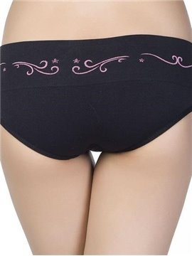 Comfy Cotton Tide Pattern Waist Hipster Panty