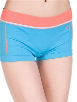 Comfy Sky Blue Orange Contra Wiast  Band Boyshorts