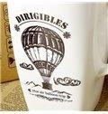 Wonderful Hot-Air Ballooning Bone China Coffee Mug