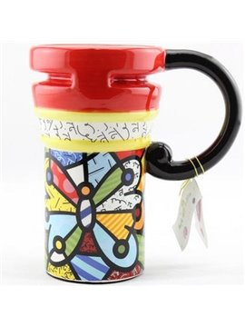 Top Quality Painted Ceramic Coffee Mug
