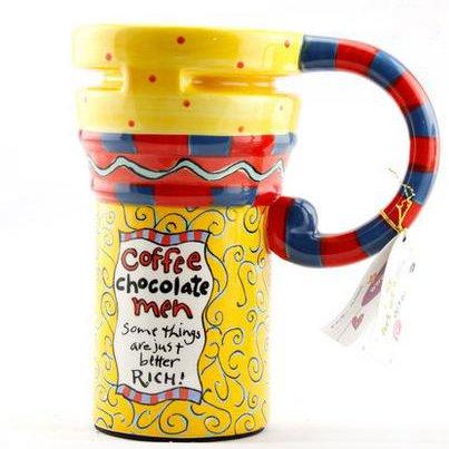 Healthy Color Painted Ceramic Coffee Mug