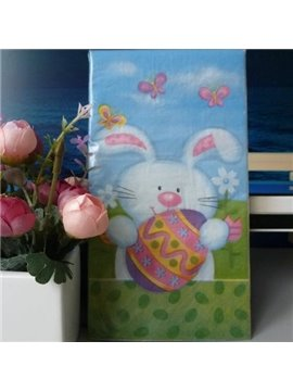 Color Printing Rabbit Eggs Paper Napkin for Easter