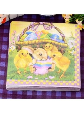 Wonderful Chicken Pattern Paper Napkin for Easter Gifts Ideas