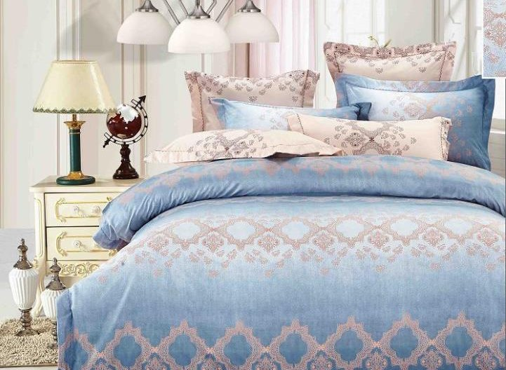 Blue Lake 4-Piece Polyester Duvet Cover Sets
