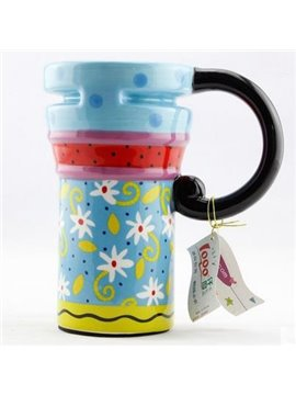 Wonderful Pretty Blue Ceramic Coffee Mug