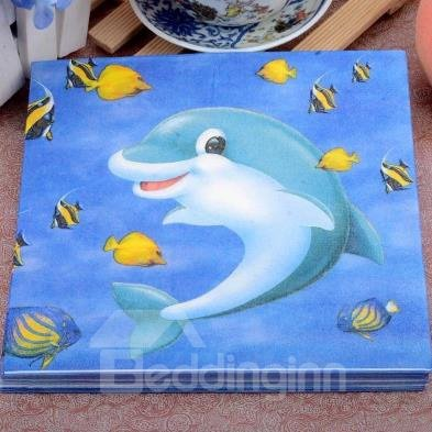 Popular Lovely Dolphin Paper Napkin For Gifts Ideas