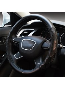 Elegant And Graceful PU Leatherette Material Medium Type Steering Wheel Cover