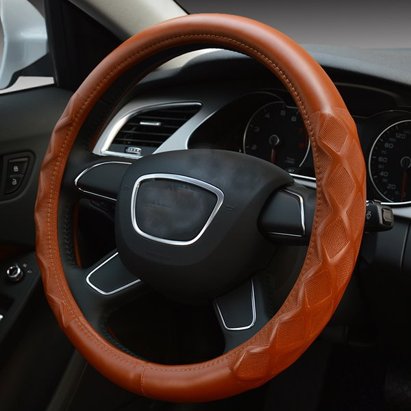 Elegant and Graceful Leather Steering Wheel Cover