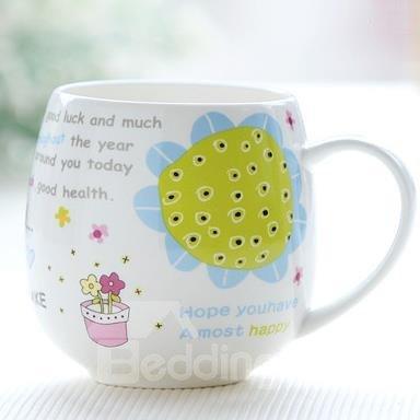 Fantastic Sunflower Bone China Coffee Mug