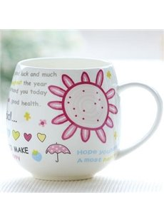Cheap Pink Bone China Coffee Mug for Girls