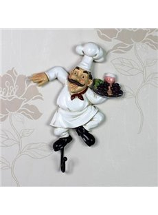Top Quality Creative Resin Chef Wall Hook