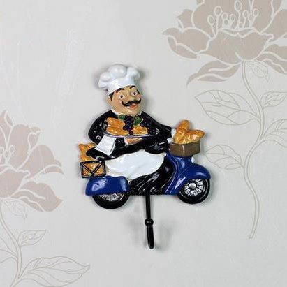 Popular Creative Resin Cool Chef Wall Hook