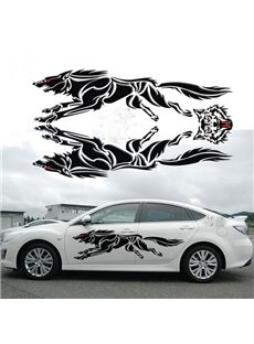 Lifelike 3D Creative Running Unique Strong Wolf Car Body Stickers