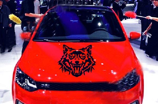 Vivid Fierce Wolf Head Pattern Design Car Sticker