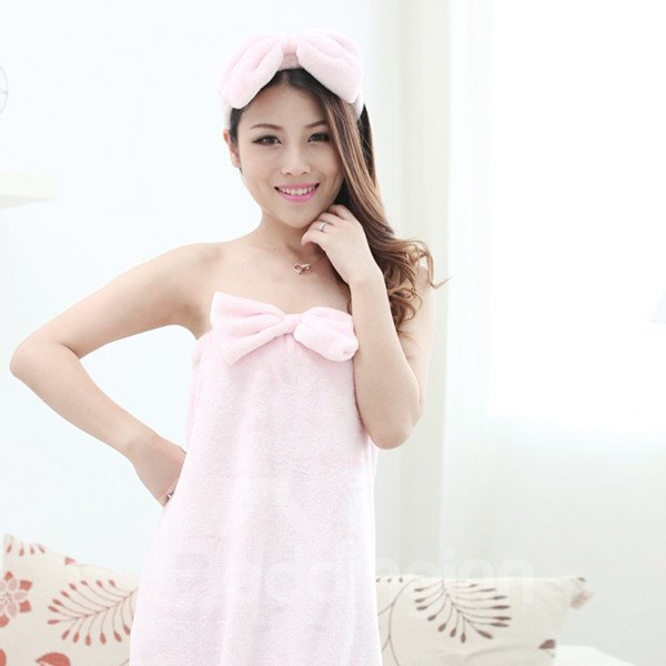 Hot Selling High Quality Lovely Sexy Strapless Bowknot Bathrobe