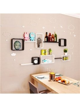 Amazing 2-Set Wood Wall Shelves with Free Wall Stickers