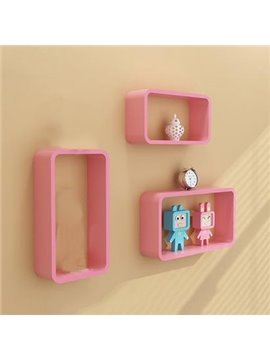 Amazing 3-Piece Rectangular Wood Wall Shelves