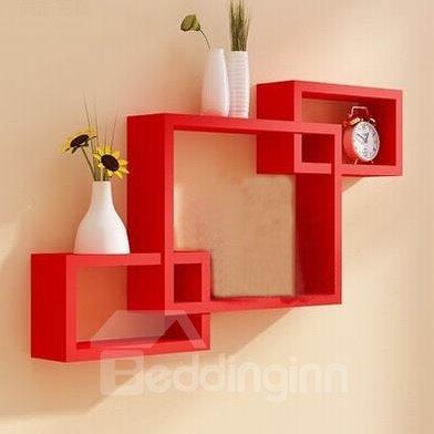 Cheap Classic 3 Piece Rectangular Wood Wall Shelves