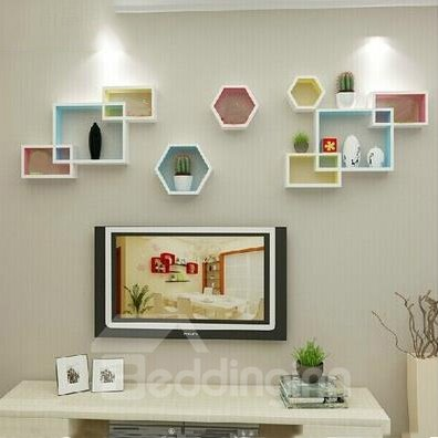 Top Classic Pretty 1-Set Wood Wall Shelves