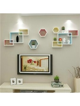 Top Classic Pretty 1-Set Wood Wall Shelves