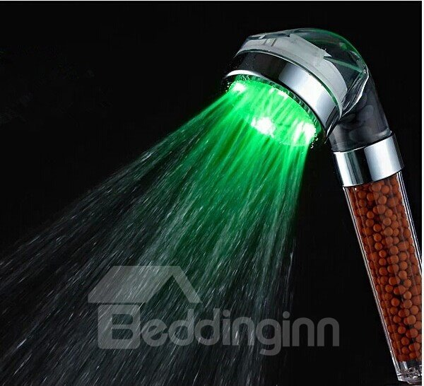 Light  Washable Anion  LED Color-changing Shower Head