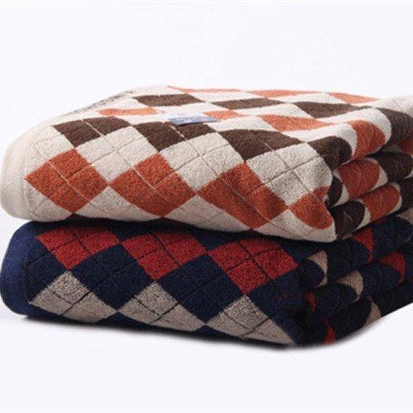 Top Selling Pure Cotton Large Size Englon  Lattice Bath Towel
