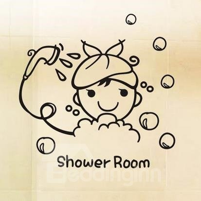 Creative 2-Piece Shower Room Wall Stickers for Baby
