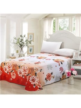 Big Flowers in Blossom Cotton Printed Sheet