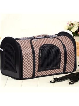Top Selling Champagne Lattice Portable Dog Carriers
