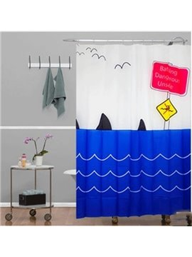 European Style Top Grade Waterproof Thicken 3D Shower Curtain