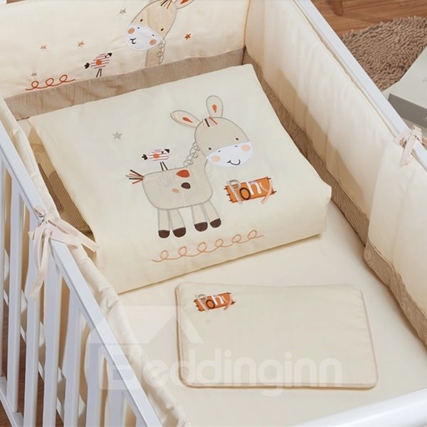 Lovely Smiling Pony 7-Piece Crib Bedding Sets