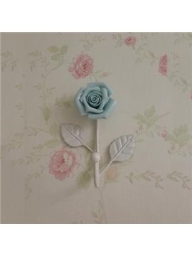 Popular Beautiful Iron Rose Flower Wall Hook