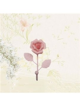 Fantastic Pretty 1-Piece Rose Flower Wall Hook