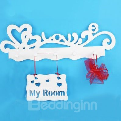 Amazing Style Wood Plastic Plate Wall Hook