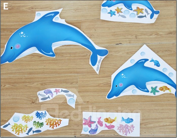 Cute Jumping Dolphin Wall Stickers for Baby & Kids
