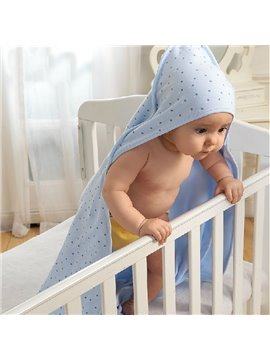 Elegant Polka Dot Hooded Baby Bath Wrap