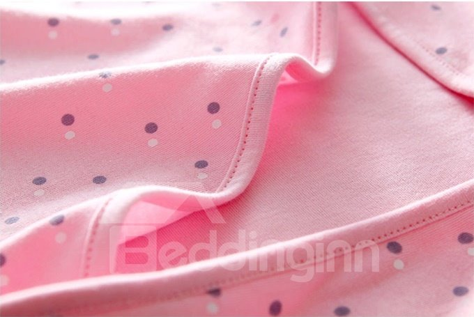 Elegant Polka Dot Hooded Baby Bath Wrap