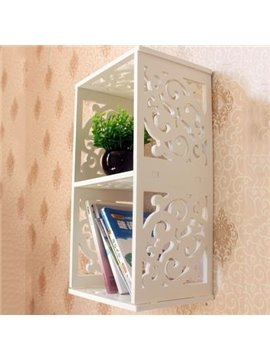 Simple Modern Wood Plastic Plate Wall Shelves