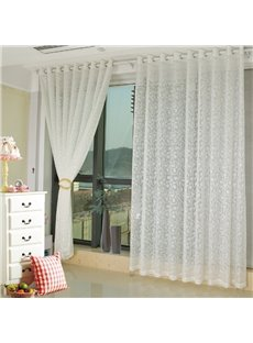 Modern Fashion Beige Living Room&Bedroom Custom Sheer Curtain